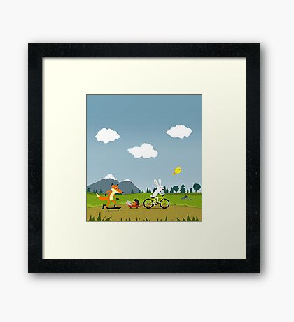 Happy Riders Framed Print