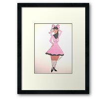 Breast Cancer Awareness Card Framed Print