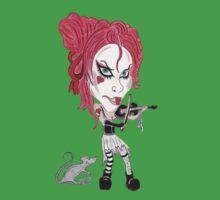 Gothic Punk Alternative Rock Funny Caricature Kids Tee