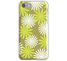 White green floral pattern iPhone Case/Skin