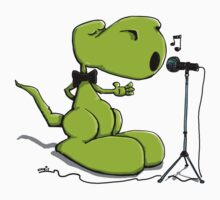 Dinosaur sings a sad Lovesong Kids Clothes