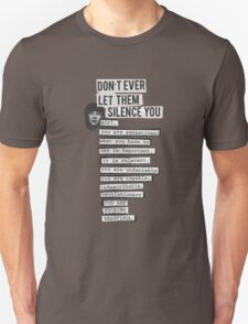 DONT EVER LET THEM SILENCE YOU - RIOT GRRRL T-Shirt