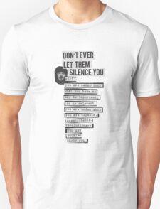 DONT EVER LET THEM SILENCE YOU - RIOT GRRRL T-Shirt