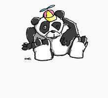 Cute Panda Bear wears a stupid Cap Unisex T-Shirt