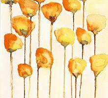 California Poppy Watercolor by Tess Johnson