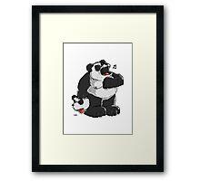 Killer Panda Bear Framed Print