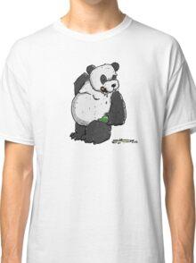 Drunken Panda Bear with Beer Bottle Classic T-Shirt