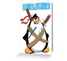 Ninjuin - The Ninja Penguin Greeting Card