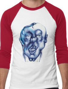 blue guy :) Men's Baseball ¾ T-Shirt
