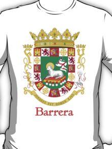 Barrera Shield of Puerto Rico T-Shirt