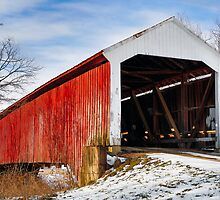 Vintage Covered Bridge by Kenneth Keifer