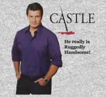 He Really Is Ruggedly Handsome - Castle Nathan Fillion Kids Clothes