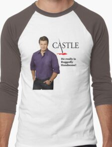 He Really Is Ruggedly Handsome - Castle Nathan Fillion Men's Baseball ¾ T-Shirt