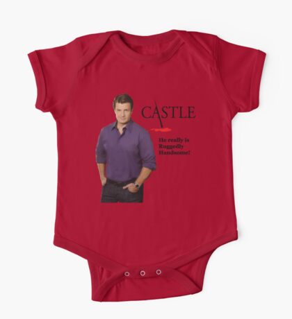 He Really Is Ruggedly Handsome - Castle Nathan Fillion One Piece - Short Sleeve