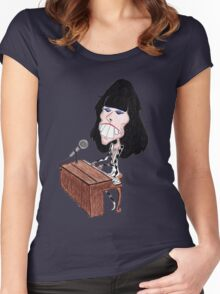 Classic Rock 70's Funny Caricature Women's Fitted Scoop T-Shirt