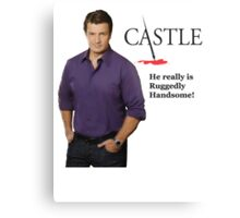 He really Is Ruggedly Handsome - Castle Nathan Fillion Metal Print
