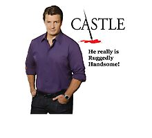 He really Is Ruggedly Handsome - Castle Nathan Fillion Photographic Print