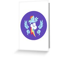 Rainbow Dash Cutie Mark Logo Greeting Card
