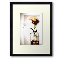 There is nothing still life about a flower  Framed Print