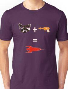 Raccoon + Laser gun = Rocket Unisex T-Shirt