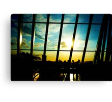 Silhouetted Canvas Print