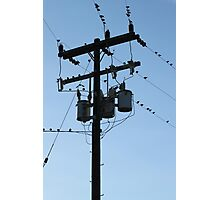 Power Pole Photographic Print
