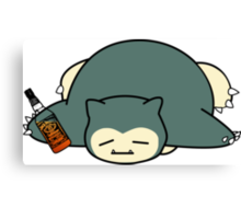 Drunk snorlax with Jack Daniel's Canvas Print