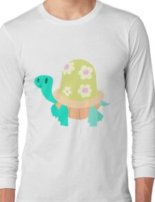 Cute Flowery Turtle Long Sleeve T-Shirt