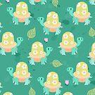 Cute Flowery Turtle Pattern by SaradaBoru