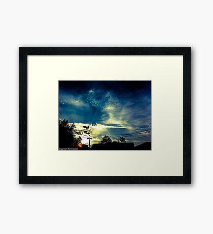 Haiku sky Framed Print
