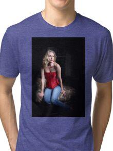 Sexy Blond Sitting Tri-blend T-Shirt