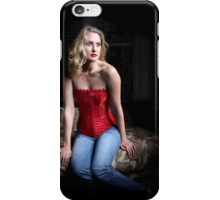 Sexy Blond Sitting iPhone Case/Skin