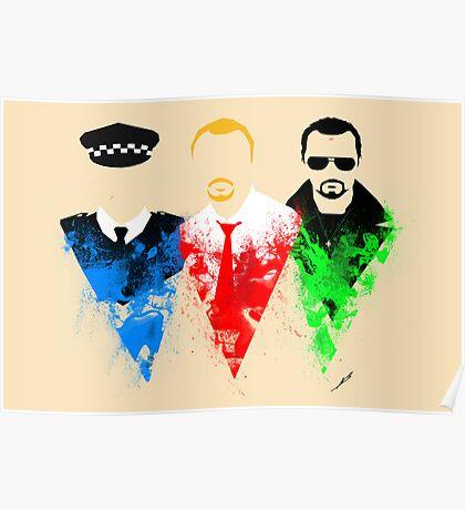 Three Flavours Cornetto Poster