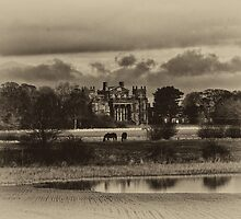 Seaton Delaval Hall in antiqued sepia by Violaman