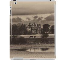 Seaton Delaval Hall in antiqued sepia iPad Case/Skin