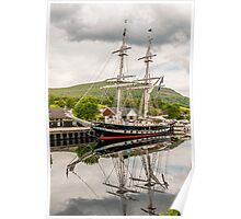 Ship, Sail training vessel, TS Royalist, Docked, Neptunes Staircase, Banavie, Scotland Poster