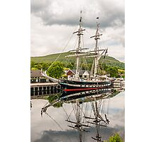 Ship, Sail training vessel, TS Royalist, Docked, Neptunes Staircase, Banavie, Scotland Photographic Print