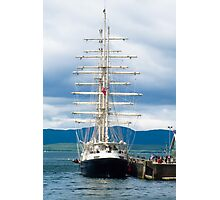 Ship, Sailing vessel, SV Tenacious, Docked, North pier, Oban  Photographic Print