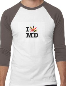 I POT MD Men's Baseball ¾ T-Shirt