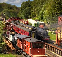 Crowds at Goathland Station by Tom Gomez