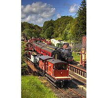 Crowds at Goathland Station Photographic Print
