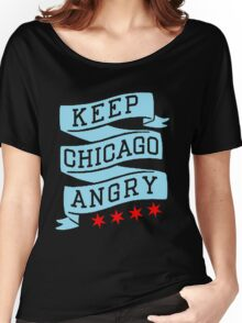 Keep Chicago Angry Women's Relaxed Fit T-Shirt