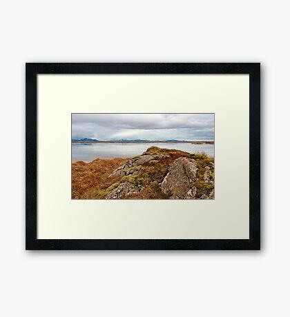 Iceland landscape Framed Print