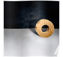 Circle Block w Hole Poster
