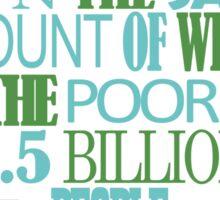 The World's Richest 85 Sticker