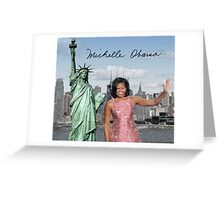 Michelle Obama and the Statue of Liberty Greeting Card
