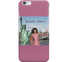 Michelle Obama and the Statue of Liberty iPhone Case/Skin