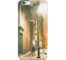 Greenwich Village on a Winter Night - New York City iPhone Case/Skin