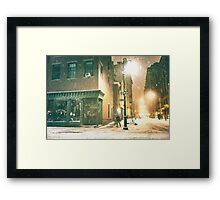 Greenwich Village on a Winter Night - New York City Framed Print