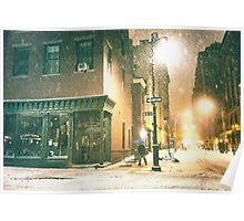 Greenwich Village on a Winter Night - New York City Poster
